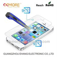 Made in China anti-fingerprint tempered glass screen protector for iphone5c