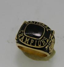 Cheap black onyx yellow gold 18k baseball championship award ring