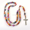 Barato del rosario del grano, Católica colgante collar, Cuentas de un rosario católico
