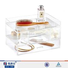 Acrylic jewelry 3 drawer storage box , boxes plexiglass transparent 3 drawer, acrylic drawer organizer