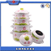 Latest Best Selling Full flower decal enamelware cookware