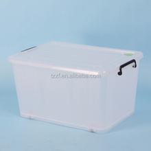 90L Plastic storage box with wheele