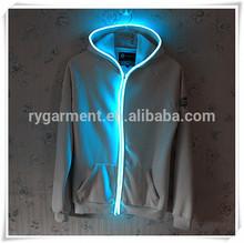 Led blazer/led abrigo/chaqueta led/llevó la luz sudadera con capucha/chaquetas de los hombres