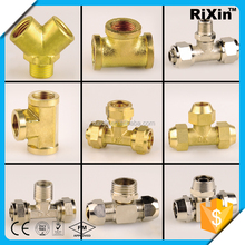 RX-1232 wholesale steel tube 8 stainless steel reducing tee steel pipe cross connector