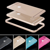 Ultra Thin 0.5mm Metal Aluminum Frame + Back Case For Apple iphone 5C Moblie Phone Cases Gold Edge Shell Hybrid Cover