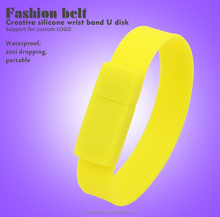 Hot Sale bracelet silicone Wrist Band USB2.0 Flash Memory Pen Drive