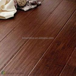Alternative Flooring Chinese Bamboo Flooring Manufacture Supplied Handscraped Bamboo Flooring in Teak Color -KE- H16021