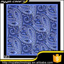 New handkerchief 100% of South Korea Silk Blue Pocket Square hanky for men