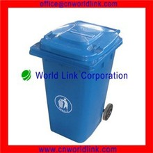 Two Wheels Outdoor Plastic 240L Colorful Garbage Container