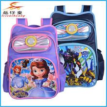 2015 flashing lights school bag backpack oem cartoon book bag