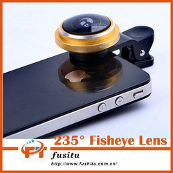 New Product 2015 Technology 235 Degree Super Fisheye Lens Phone Camera Lens For Blackberry samsung