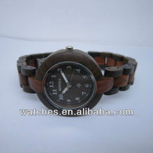 2012 fashion design wood whole watch with japan movement