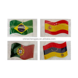 Long Lasting Smell Custom ized Flag Shaped Hanging Paper air freshener
