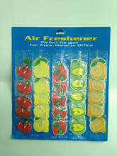 Special paper fruit shape hanging car air freshener.