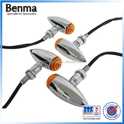 Aluminum alloy motorcycle/electric scooter turn signal indicator light