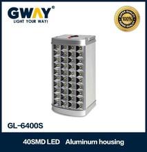 40pcs of 5-6LM 3528 SMD LED portable light,Aluminum housing