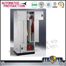 Public waterproof Z shape steel or iron wardrobe design