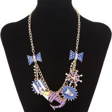 2015 mais recente projeto âncora borboleta charme cadeia colar banhado a ouro jóias atacado