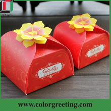 handmade new products wedding favors and gift box with flowers
