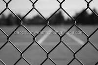 Hot-dip galvanized used chain link fence panels with post in store (Direct factory)