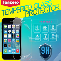 Back cover 9H 0.33MM tempered glass screen protector for iPhone 5 for iPhone 5s 5C back cover
