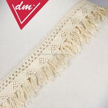 Fancy white wholesale tassel fringe for decorative