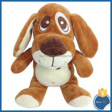 yumuşak peluş köpek nakış tasarımı ile doldurulmuş büyük gözleri köpek bebek