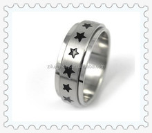 China Factory Online Selling Fashion Jewelry Stainless Steel Star Spinner Ring Wholesale