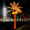 High quality blue light artificial outdoor palm tree with LED light