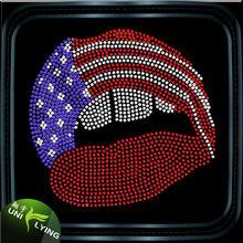Manufacturer Custom Free American Beauty Rhinestone Design