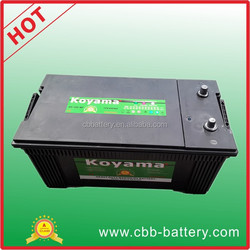 High quality 200ah 12V KOYAMA car battery Sealed MF auto battery 8D-200-MF