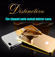 For xiaomi note aluminum mirror bumper case ,mirror cell phone case for xiaomi note ,mirror mobile phone case for xiaomi note