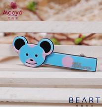 Hot sales Korean Barrettes ,Kids Fancy Hair Accessories, Crocodile Hair Clip In Lovely Bear Design