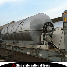 2015 new design Waste Tyre Pyrolysis Oil Refining Machine with CE,SGS, BV certifiacte
