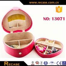 Nice pu leather jewelry box packaging hot sale jewelry organizer box/case