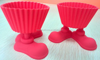 new products silicone cupcake mold with feet