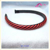 good quality ladies leather covered clear plastic hair headband