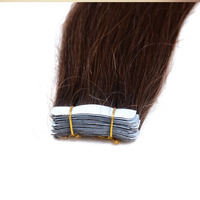 factory price wholesale brown color tape hair extension ;16-30 inch virgin brazilian human hair extension