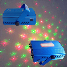 Professional Stage Lighting Six Pictures Mini Laser Light Outdoor Indoor Multi-Pattern Disco Home Party Laser Projector Light