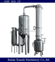 stainless steel single effect alcohol recovery concentrator/concentration tank