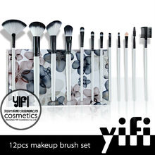 Makeup brush factory synthetic makeup brush sets black plum 12pcs makeup brush set free sample