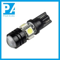 New design LED car light T10 W5W 4+11.5W black shell bulbs with lens