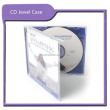 CD Replication and Printing Clear Jewel CD Case with inserts