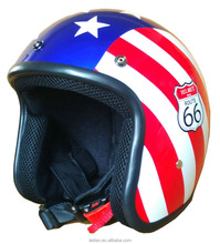 novelty star motorcycle helmets open face helmet retro gloss UV curable fit with visor