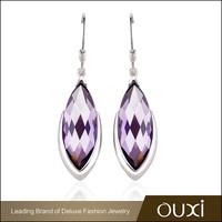 OUXI 2015 fashion jewelry lab created zirconia huggie earrings for women Y20340