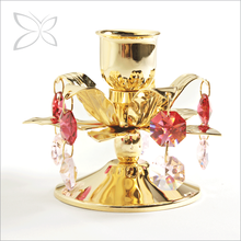 Luxury Creative Gold Plated Metal Candlestick Decorations