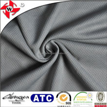 chuangwei textile soft handfeel Dark grey tear-resistant 100% polyester sportswear mesh fabric
