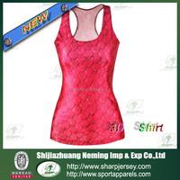2015 fitness sleeveless printed 3D t-shirt