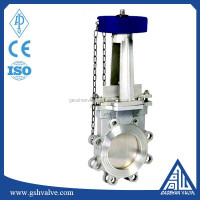 chain wheel knife gate valve