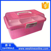 Small handle transparent plastic tool box